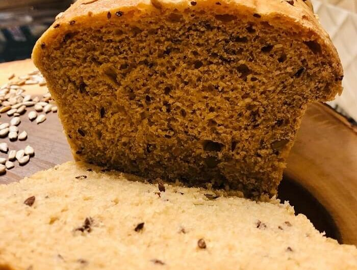 Homemade multiseed wholewheat bread