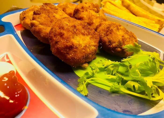 chicken vegetable fritters