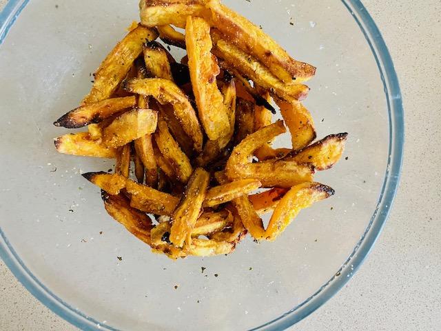 season the fries