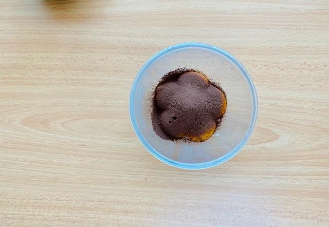 cocoa powder in egg yolks