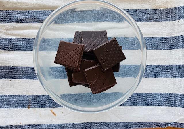 Dark Chocolate for Chantilly cream