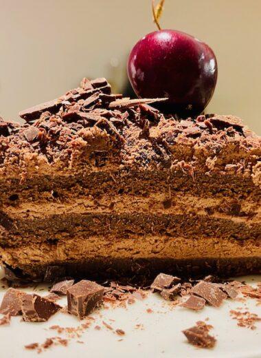 flourless chocolate slice