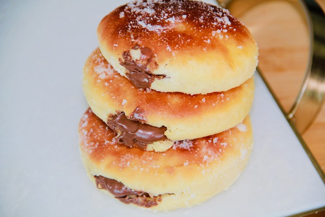 nutella filling in donuts
